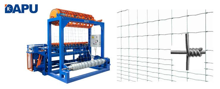 Field fence mesh machine