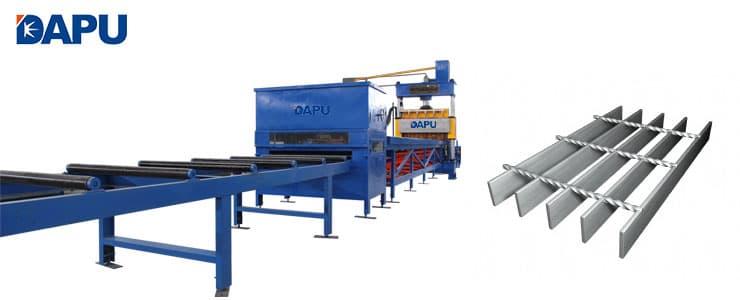 Steel grating forge welding machine